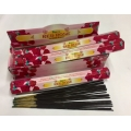 RED ROSE INCENSE STICK 6pk.of 20sticks each