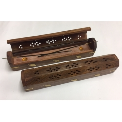 WOODEN INCENSE STICK HOLDER