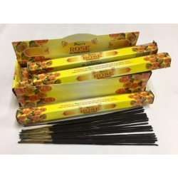 YELLOW ROSE INCENSE STICK 6pk.of 20sticks each